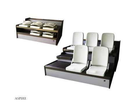 Aspire Molded Retractable Seating